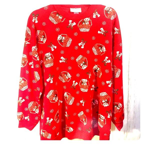 Christmas Cat Sweater.Christmas Cat Sweater